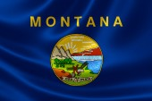 Montana State Flag — Stock Photo