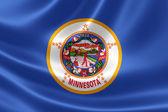 Flaga stanu Minnesota — Zdjęcie stockowe