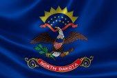 North Dakota State Flag — Stock Photo