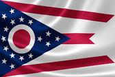 Bandeira do estado de ohio — Fotografia Stock