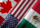 3D Rendering of North American Free Trade Agreement NAFTA Member — Stock Photo