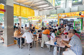 Singapore Food Court at Whampoa Hawker Center — Stock Photo