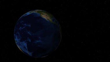 Girando a terra no espaço sideral amplia África — Vídeo stock