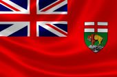 Manitoba Provincial Flag of Canada — Stock Photo