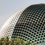 Singapore Landmark: Esplanade Theatres on the Bay — Stock Photo #69873887