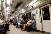 Riding the Commuter Train in Singapore — Stock Photo