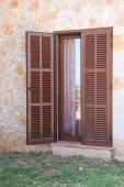 Mediterranean house door — Stock Photo