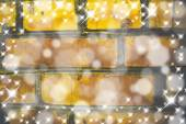 Christmas Background with Blurred Snowflakes — Stock Photo