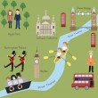 London map in cartoon style — Vector de stock  #70453097