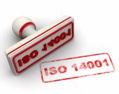 ISO 14001. Seal and imprint — Stock Photo