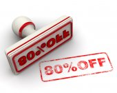 80 percent OFF. Seal and imprint — Stock Photo