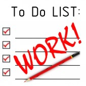 Work! To do list — Stock Photo