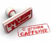 No caffeine stamp — Stock Photo