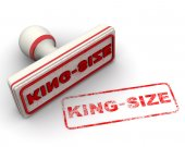 White and red king size stamp — Stock Photo