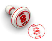 S size stamp with rubber stamper — Stock Photo