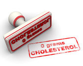 No cholesterol  stamp — Stock Photo