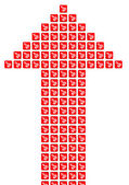 Šipka červené kostky — Stock fotografie