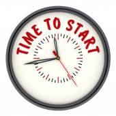 Dags att börja. Klockor med en inskription — Stockfoto