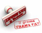 No trans fat stamp — Stock Photo
