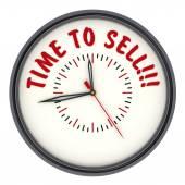 Tijd om te verkopen. Horloges met een inscriptie — Stockfoto