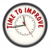 Tijd om te verbeteren. Horloges met een inscriptie — Stockfoto