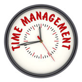 Time management. Watches with an inscription — Stock Photo