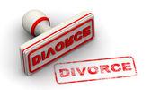 Белый и красный развода штамп — Стоковое фото