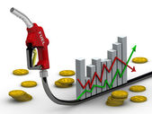 Changes in fuel prices — Stock Photo