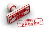 Test passed stamp — Zdjęcie stockowe