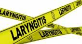 Laryngitis. Yellow warning tapes — Stock Photo