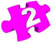 Digit 2. Puzzle — Zdjęcie stockowe