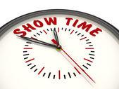 Zobrazit čas. Hodinky s nápisem — Stock fotografie