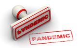 Pandemic. Seal and imprint — Stock Photo