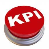 KPI (Key Performance Indicators). Red button labeled — Stock Photo