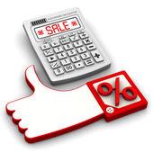Bargain sale. Financial concept — Stock Photo