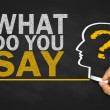 What do you say? — Stock Photo #59187805