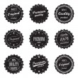 Collection of vintage product labels and signs - premium quality and top product — Stok Vektör #74139041