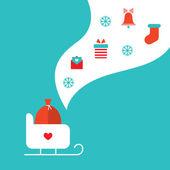 Feliz natal e feliz ano novo cartão — Vetorial Stock