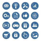 Set of modern flat icons  — Stock Vector