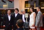 Alberto Barbera, John Leguizamo, Anton Elchin, Michael Almereyda, Milla Jovovich and Ethan Hawke — Stock Photo