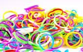 Elastic loom bands color full — Stock Photo
