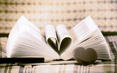 Heart book shaped — Foto de Stock