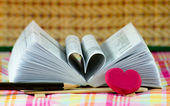 Heart book shaped — Stock Photo