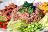 Spicy fried rice with shrimp , Thai  food — Stock Photo