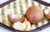 Avocado seed on table — 图库照片