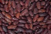 Delicious food background of brown beans — Stock Photo