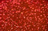 Defocused abstract red hearts light background — Stockfoto