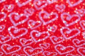 Defocused abstract red lights with heart background — Стоковое фото