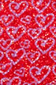 Defocused abstract red lights with heart background — Foto Stock