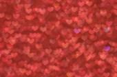 Defocused abstract red hearts light background — Stock Photo